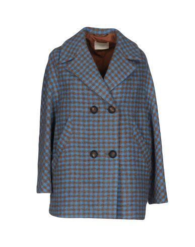 Купить Женское пальто или плащ MOMONÍ лазурного цвета