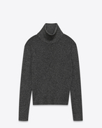 SAINT LAURENT Knitwear Tops U Roll-neck sweater in a black and gold lurex knit f