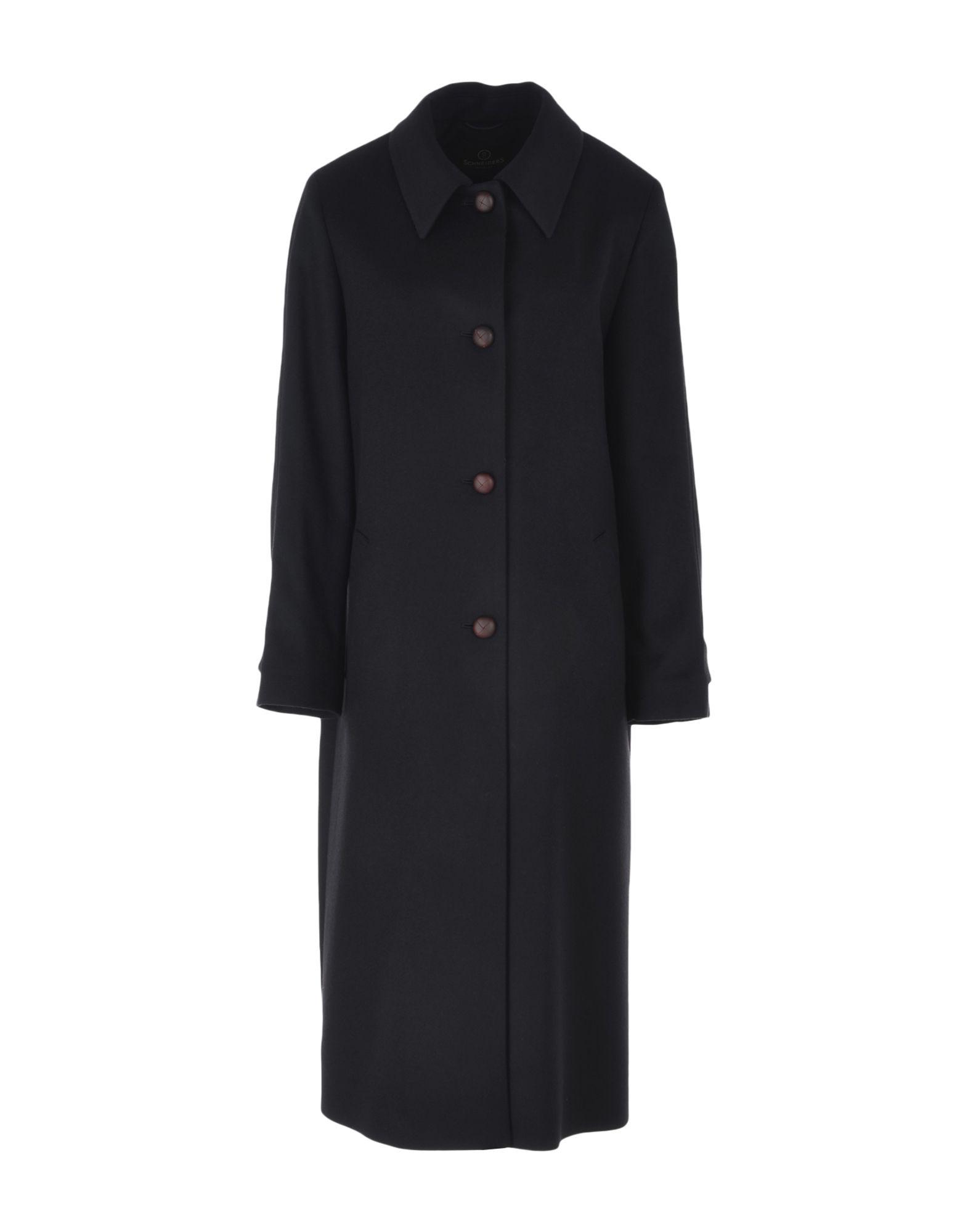 SCHNEIDERS Пальто пальто зима кожаные рукава цена