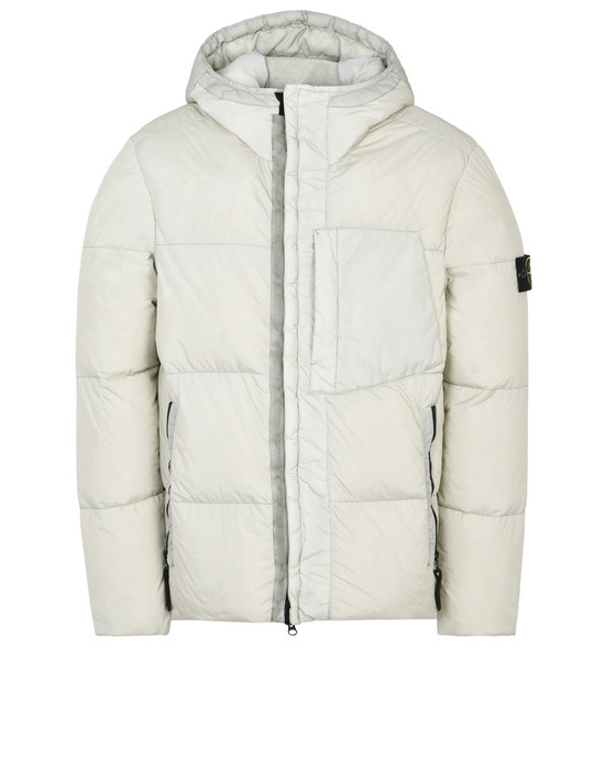 40223 GARMENT DYED CRINKLE REPS NY DOWN Mid Length Jacket Stone Island Men  - Official Online Store