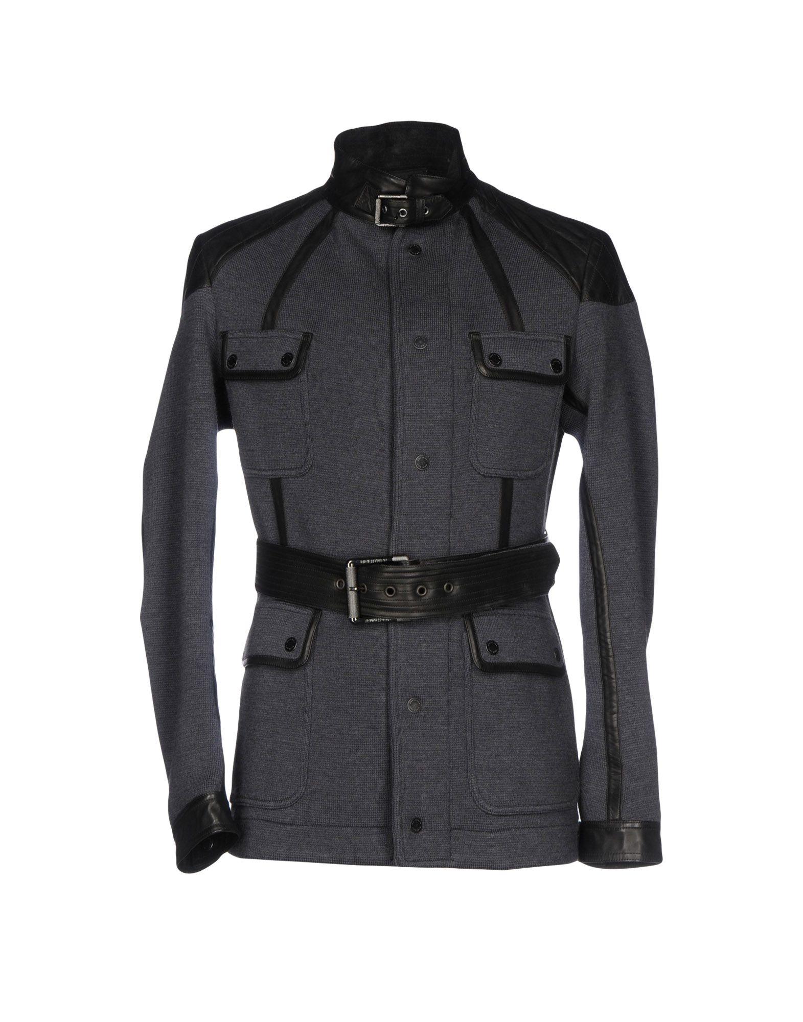 BELSTAFF Пальто пальто зима кожаные рукава цена