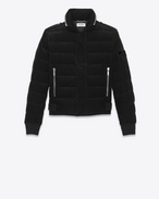 SAINT LAURENT Coats U Down Jacket in Black Corduroy f