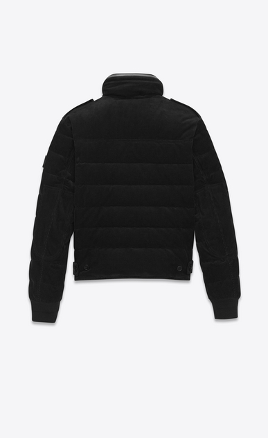 SAINT LAURENT Coats U Down Jacket in Black Corduroy b_V4