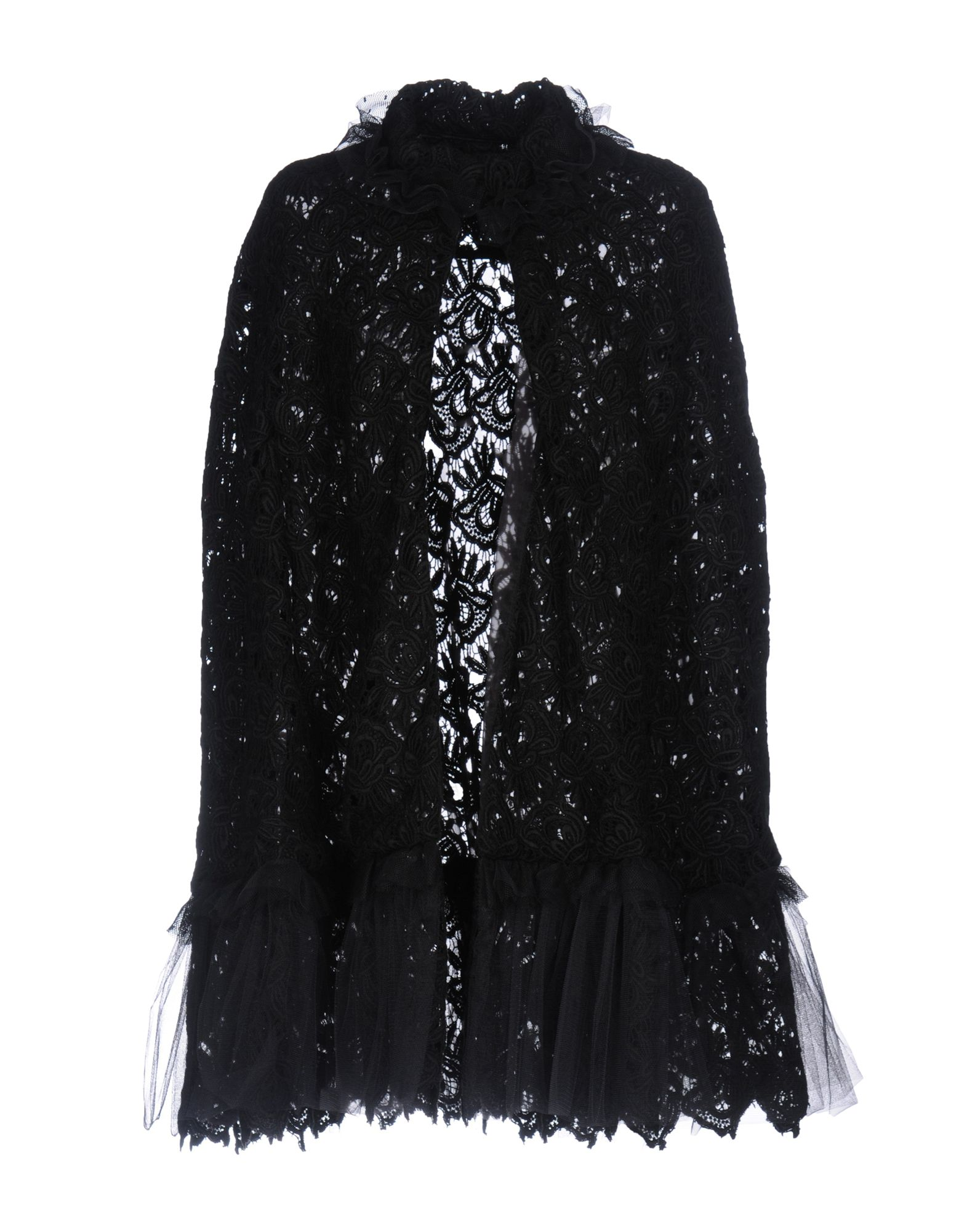 IO COUTURE Full-Length Jacket in Black