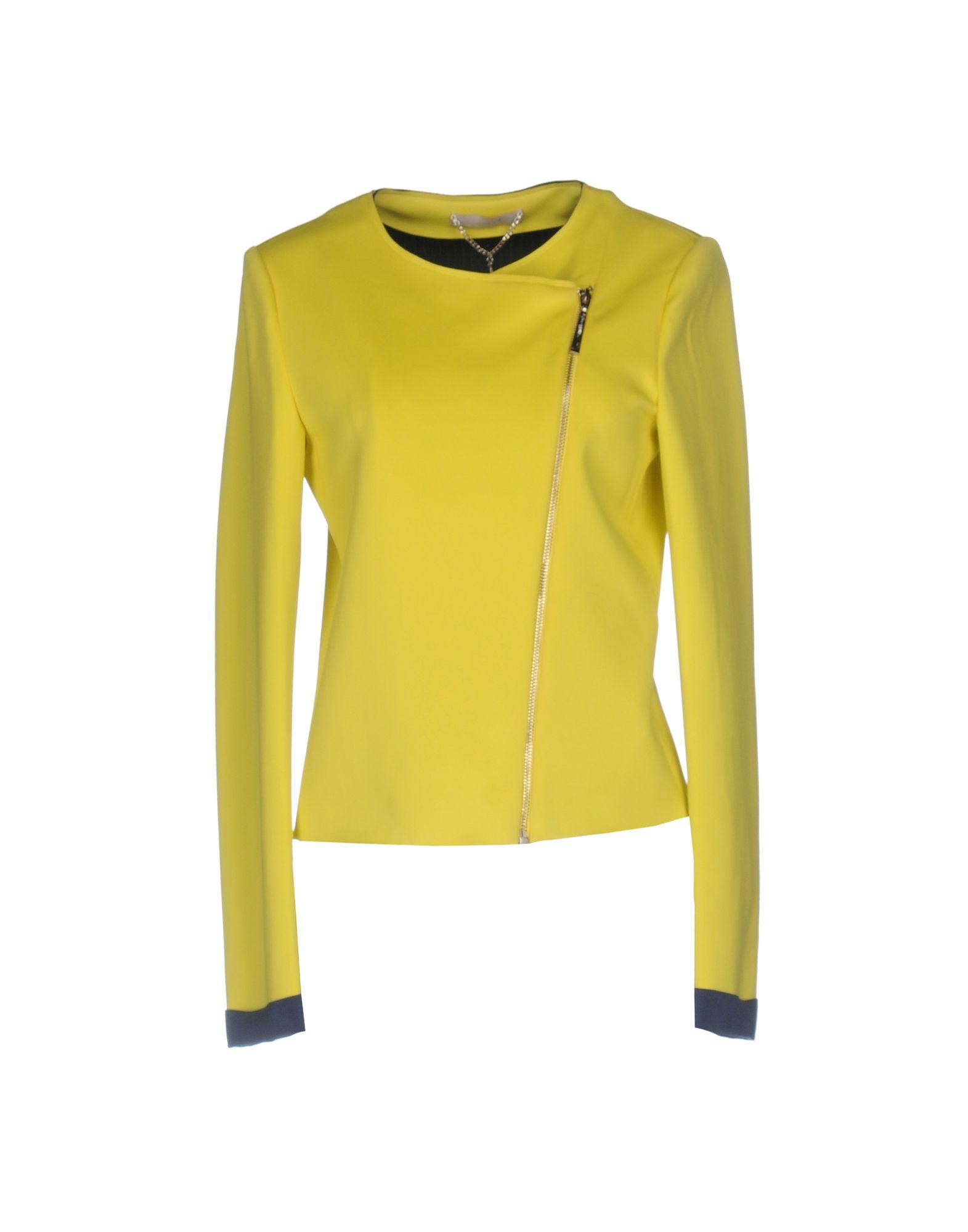 LES PLUMES de LIU •JO Damen Jacke Farbe Gelb Größe 4
