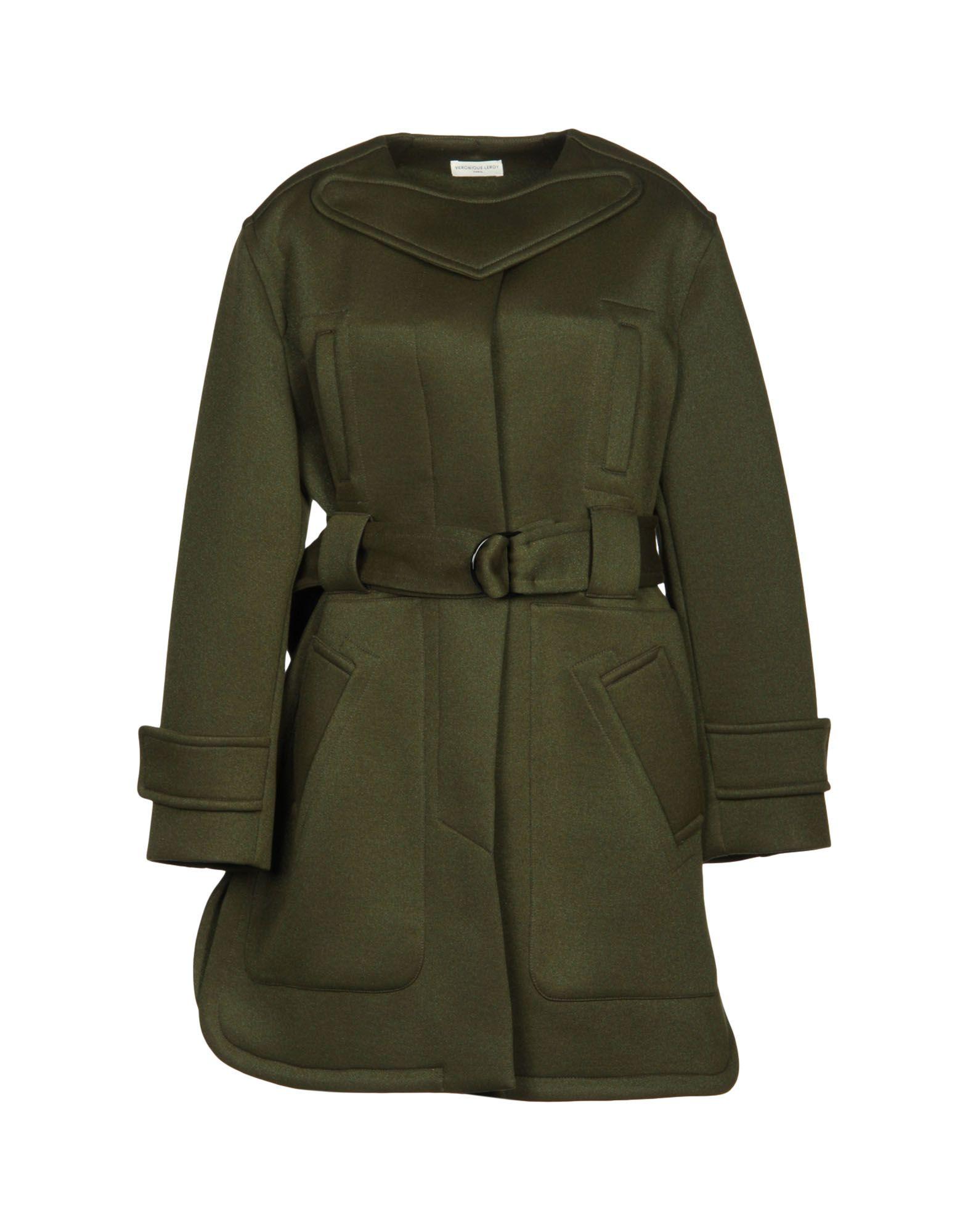 VERONIQUE LEROY Coats in Military Green