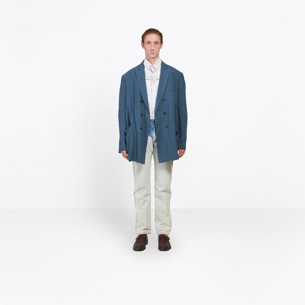 BALENCIAGA Jacket Man Washed Double Breasted Jacket g