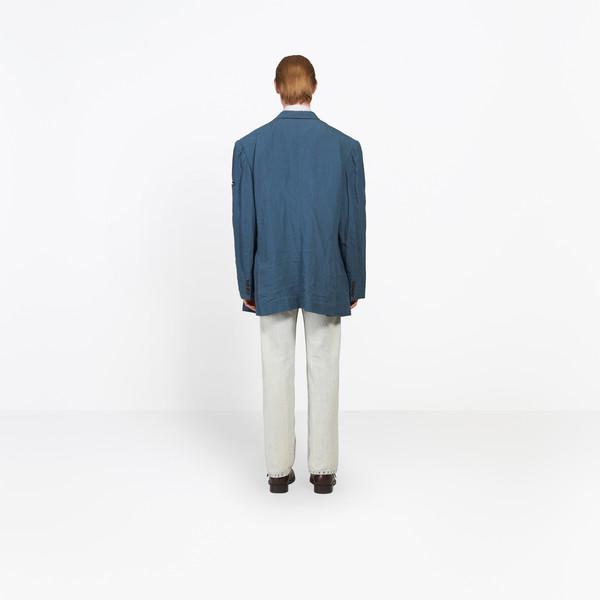 BALENCIAGA Jacket Man Washed Double Breasted Jacket h