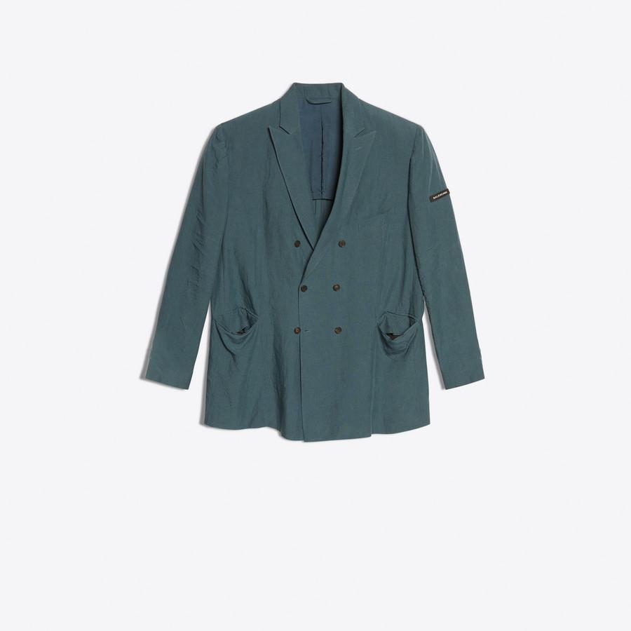 BALENCIAGA Washed Double Breasted Jacket Jacket Man f
