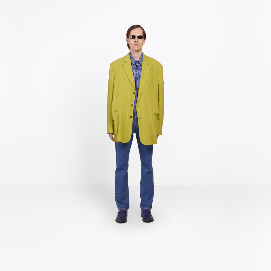 BALENCIAGA Washed Single Breasted Jacket Jacket Man g