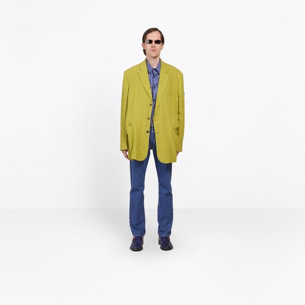 BALENCIAGA Jacket U Washed Single Breasted Jacket g