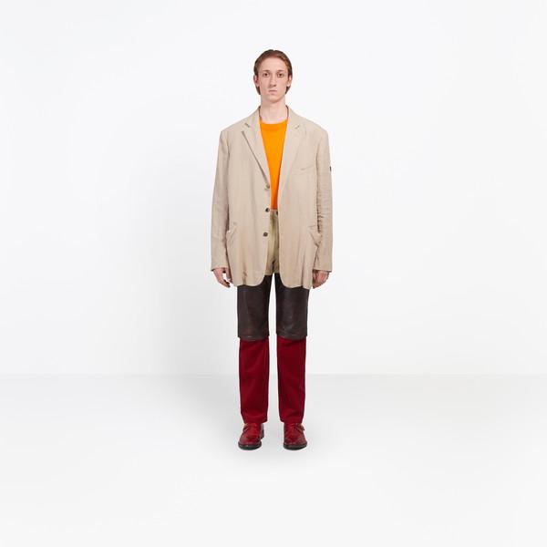 BALENCIAGA Jacket Man Washed Single Breasted Jacket g