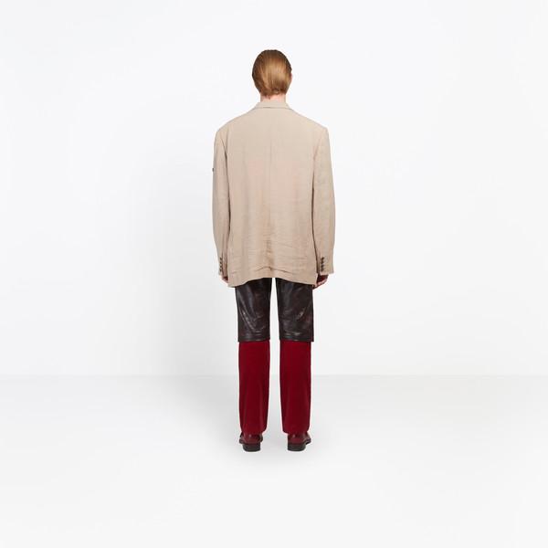 BALENCIAGA Jacket Man Washed Single Breasted Jacket h