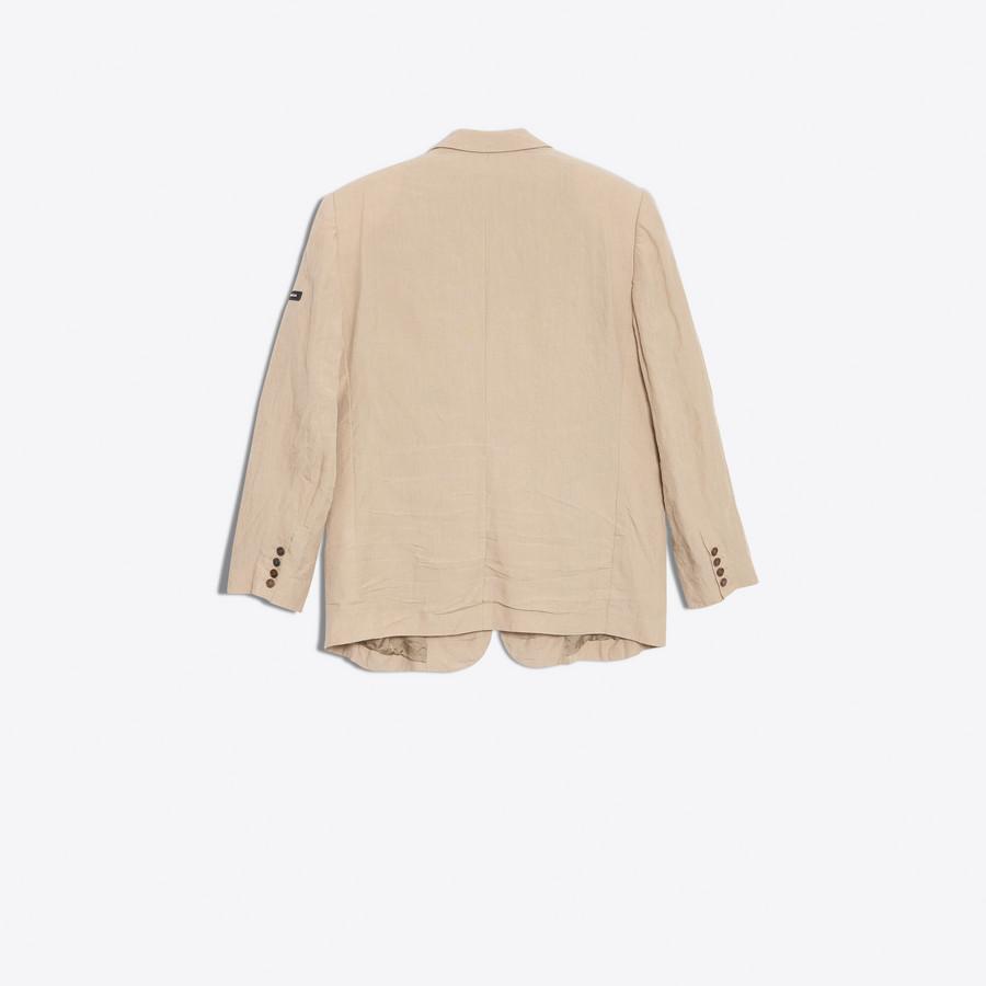 BALENCIAGA Washed Single Breasted Jacket Jacket Man d