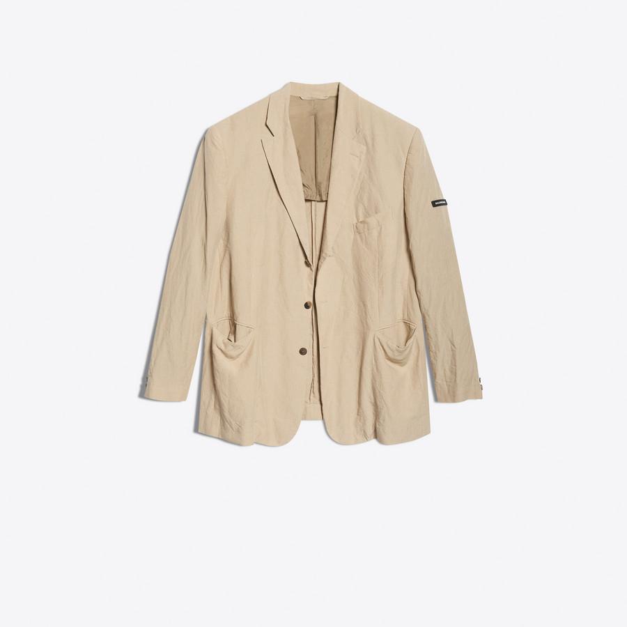 BALENCIAGA Washed Single Breasted Jacket Jacket Man f