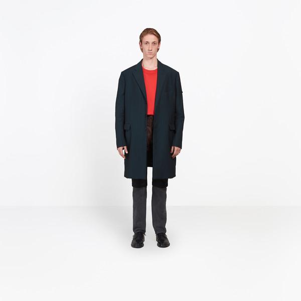 BALENCIAGA Coats U Washed Single Breasted Coat g
