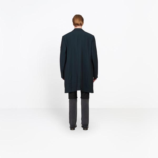 BALENCIAGA Coats U Washed Single Breasted Coat h