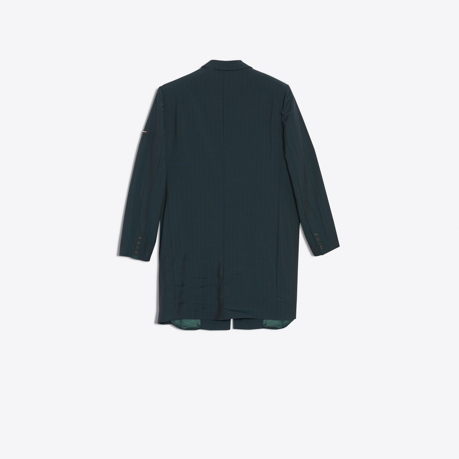 BALENCIAGA Washed Single Breasted Coat Coats U d