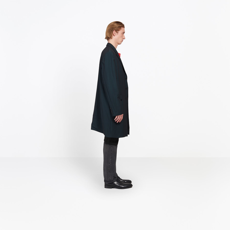 BALENCIAGA Washed Single Breasted Coat Coats U i