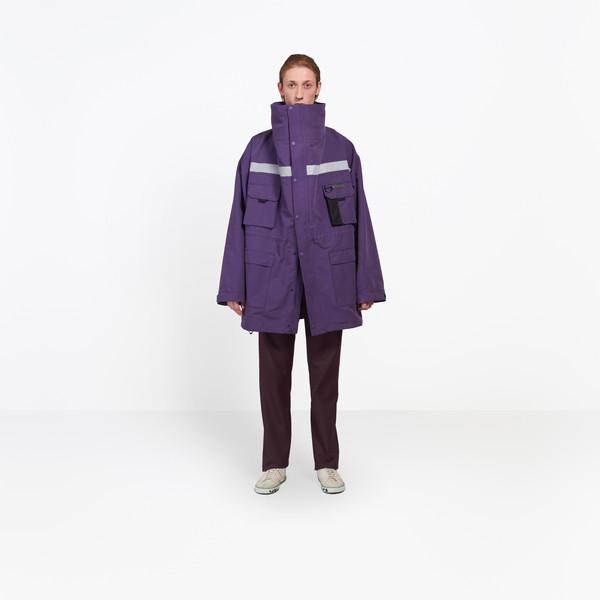 BALENCIAGA Coats U Profil Collar Parka g
