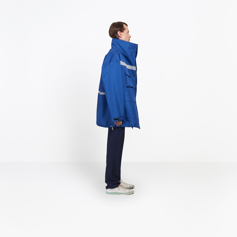 BALENCIAGA Profil Collar Parka Coats Man i