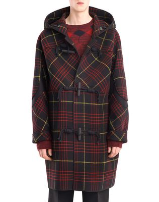 CHECKERED DUFFLE COAT
