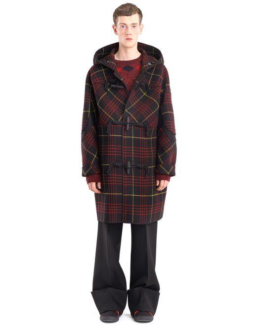 lanvin duffle-coat carreaux homme