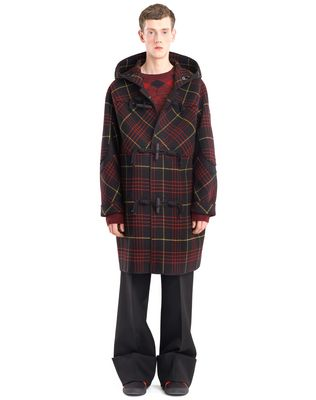 LANVIN CHECKERED DUFFLE COAT Outerwear U r
