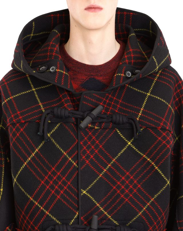 LANVIN CHECKERED DUFFLE COAT Outerwear U a