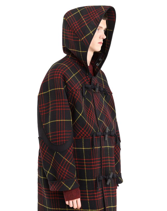 LANVIN CHECKERED DUFFLE COAT Outerwear U b