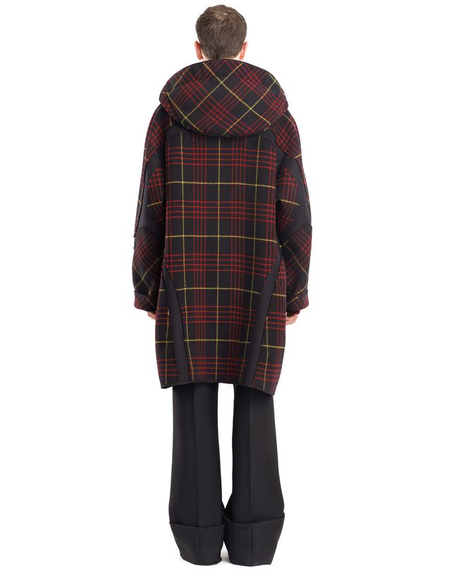 LANVIN CHECKERED DUFFLE COAT Outerwear U d