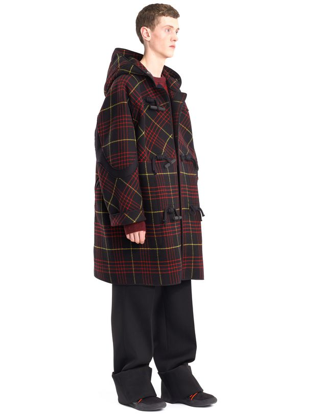 LANVIN CHECKERED DUFFLE COAT Outerwear U e