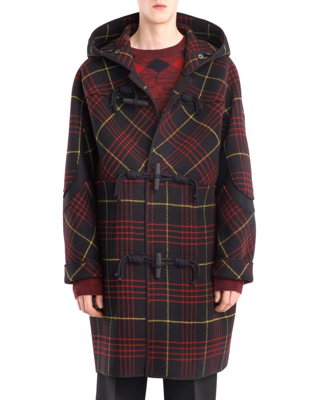 LANVIN CHECKERED DUFFLE COAT Outerwear U f