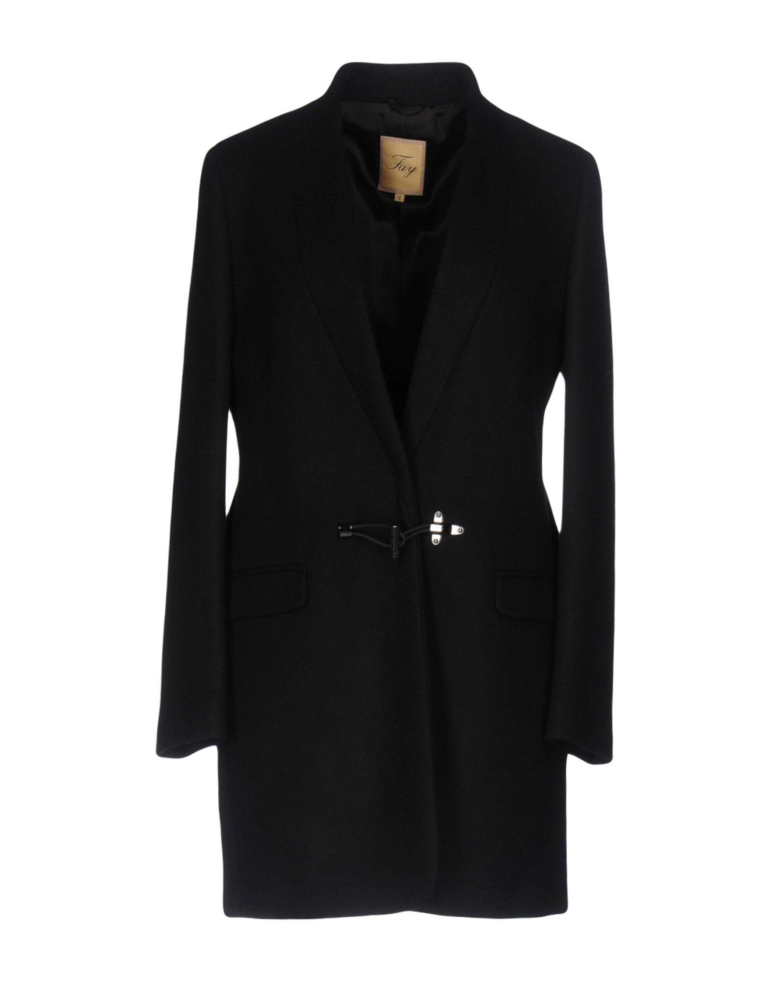 FAY Пальто пальто зима кожаные рукава цена