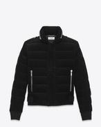 SAINT LAURENT Coats D Down Jacket in Black Corduroy  f