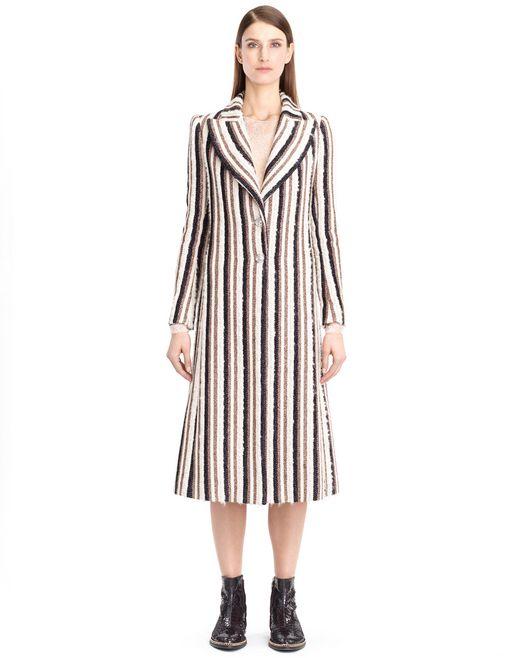 lanvin woven stripe coat women