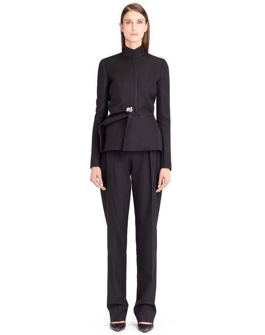 lanvin double-weave wool jacket women
