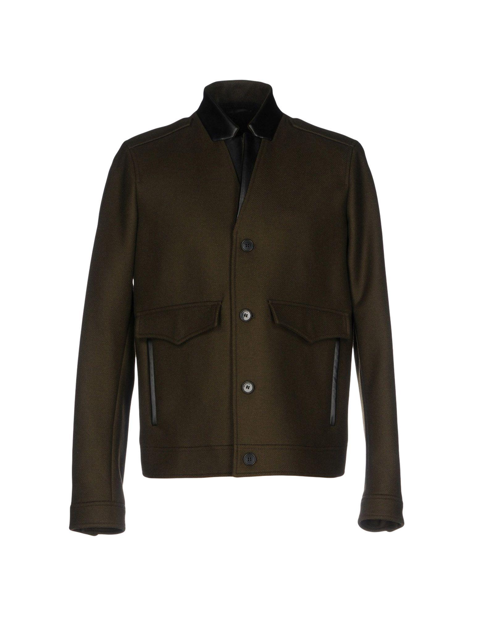 THE KOOPLES Пальто пальто зима кожаные рукава цена