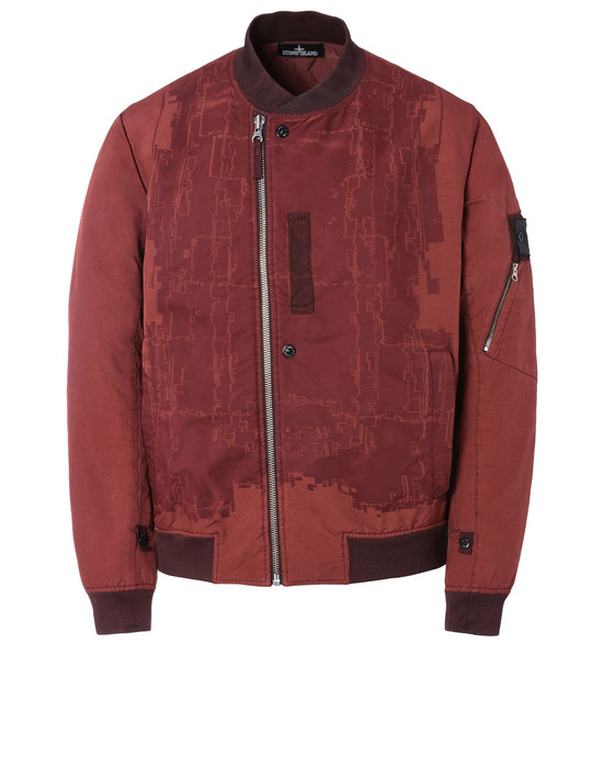 STONE ISLAND SHADOW PROJECT Jacket 40403 LASER ENGRAVED BOMBER WITH DROP POCKET AND ARTICULATION TUNNELS (DAVID-TC) SINGLE LAYER FABRIC - GARMENT DYED WITH ANTI-DROP AGENT