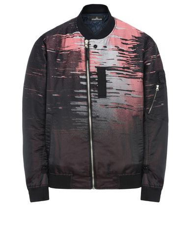 40605 ASYM BOMBER JACKET WITH DROP POCKET AND ARTICULATION TUNNELS (BIG LOOM JACQUARD) SINGLE LAYER FABRIC - WITH ANTI-DROP AGENT
