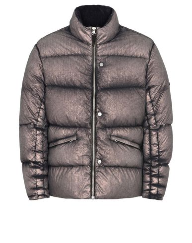 40502 DOWN JACKET WITH ARTICULATION TUNNELS (METALLIC MIST NYLON) SINGLE LAYER FABRIC - WITH ANTI-DROP AGENT