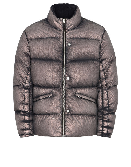 STONE ISLAND SHADOW PROJECT Mid-length jacket 40502 DOWN JACKET WITH ARTICULATION TUNNELS (METALLIC MIST NYLON) SINGLE LAYER FABRIC - WITH ANTI-DROP AGENT
