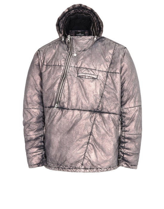 STONE ISLAND SHADOW PROJECT Mid-length jacket 40102 OBLIQUE PADDED ANORAK WITH DROP POCKET AND ARTICULATION TUNNELS (METALLIC MIST NYLON) SINGLE LAYER FABRIC - WITH ANTI-DROP AGENT