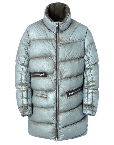 70602 TILT STORAGE DOWN PARKA WITH ARTICULATION TUNNELS (METALLIC MIST NYLON) SINGLE LAYER FABRIC - WITH ANTI-DROP AGENT