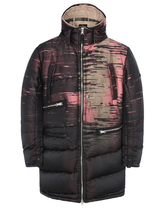 STONE ISLAND SHADOW PROJECT LONG JACKET 70505 TILT STORAGE PARKA WITH ARTICULATION TUNNELS (BIG LOOM JACQUARD) SINGLE LAYER FABRIC - GARMENT DYED WITH ANTI-DROP AGENT