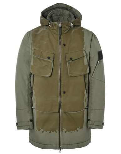 40303 LASER ENGRAVED PARKA WITH ARTICULATION TUNNELS (DAVID-TC) SINGLE LAYER FABRIC - GARMENT DYED WITH ANTI-DROP AGENT
