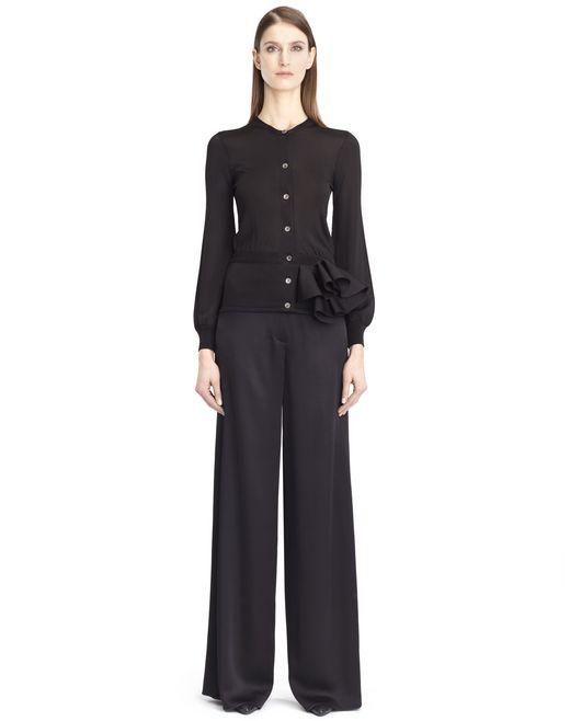 lanvin knit and frill jacket women
