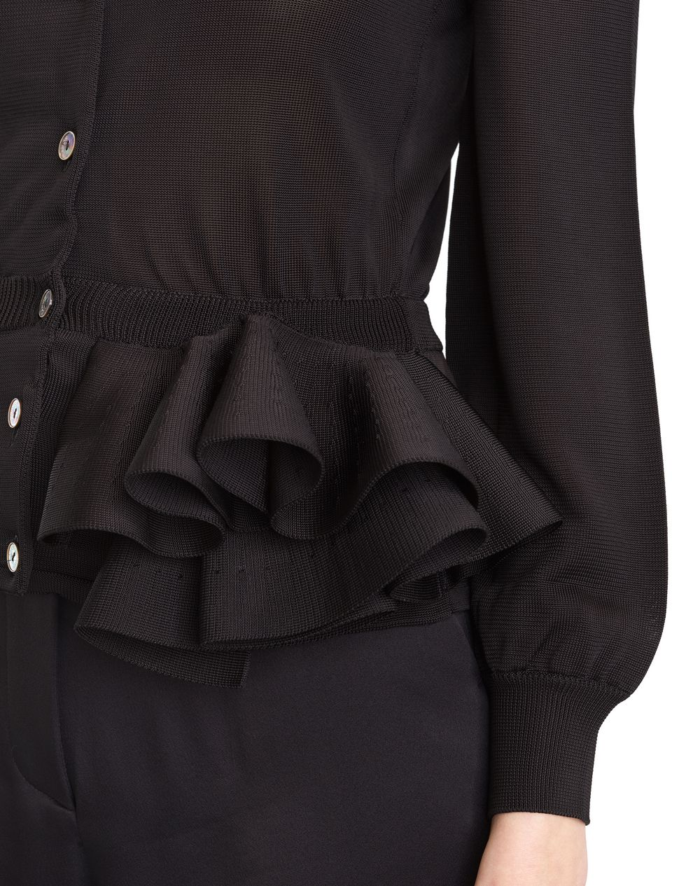 KNIT AND FRILL JACKET - Lanvin
