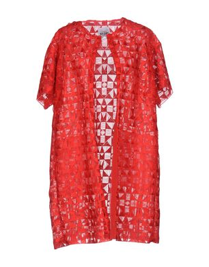 SI-JAY Damen Lange Jacke Farbe Rot Größe 5 Sale Angebote