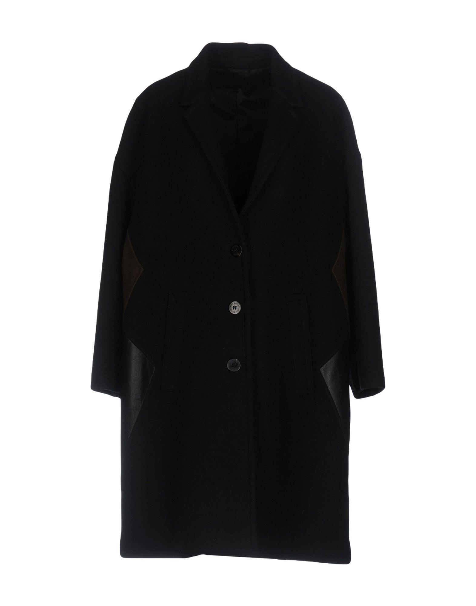 NEIL BARRETT Пальто пальто зима кожаные рукава цена